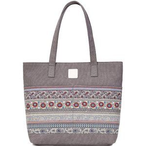 Women's Casual Canvas Tote Bags, Gray